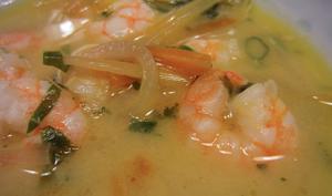 Soupe thaï aux gambas et au lait de coco
