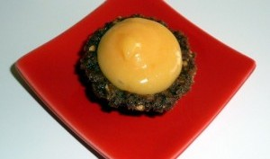 Mini tartelettes aux cookies granola chocolat amandes caramélisées et crème de pamplemousse