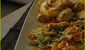 Emincés de poulet aux ananas, amandes et miel