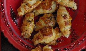 Croissants de carrés frais et gingembre