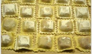 Raviolis aux magrets séchés et sauce à la crème