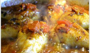 Poulet aux tomates à la plancha