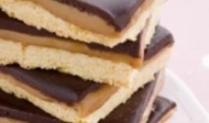 Shortbread caramel chocolat