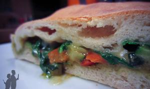 Calzone aux légumes grillés
