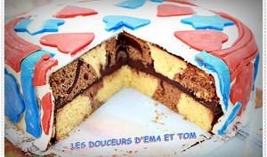 "Gâteau Damier "" Thème France """