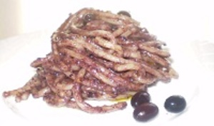 Pâtes au Pesto D'Olives Noires