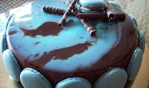 Entremet chocolat blanc et caramel
