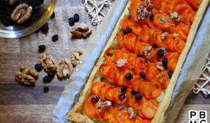 Tarte à la carotte et oignons