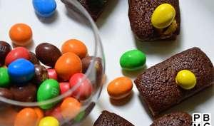 Financier au chocolat et M&M's