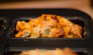 Cake au chorizo, olives vertes et parmesan