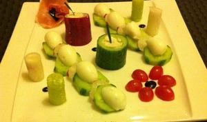 Salade en vert et rouge