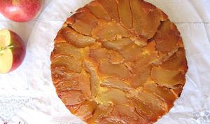 Gâteau renversé aux pommes et amandes