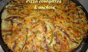 Pizza courgettes & anchois