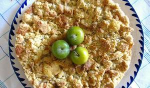 Gâteau crumble aux Reines-Claude