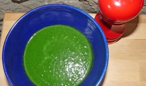 Soupe épinards et douceur d'épeautre