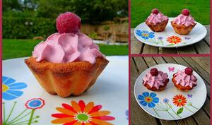 Cupcake clafoutis et chantilly au sirop