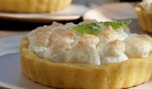 Tartelettes meringuées verveine et bergamote
