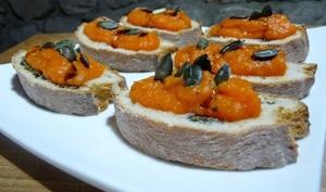 Caviar de courge pour toast triple courge