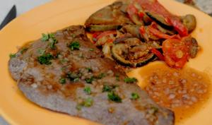 Foie de veau poêlé au vinaigre balsamique