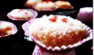 Gâteau sec à la noix de coco et aux framboises