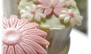 Cupcakes printaniers à la vanille