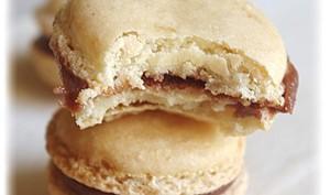 Macarons au chocolat au lait arôme abricot