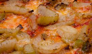 Pizza au fenouil confit