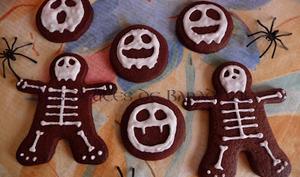 Sablés squelettes au chocolat