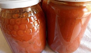 Conserves de sauce tomates-aubergines-poivrons