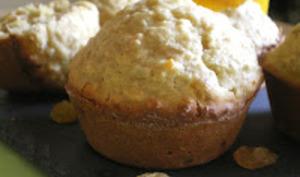 Muffins avoine orange et raisins secs