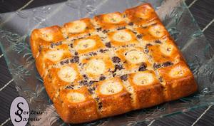 Gâteau moelleux aux bananes et aux pépites de chocolat