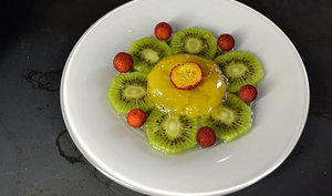 Carpaccio de fruits bio