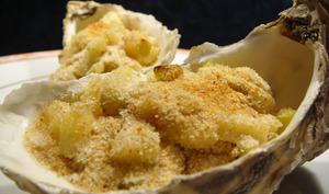 Huîtres gratinées aux pommes