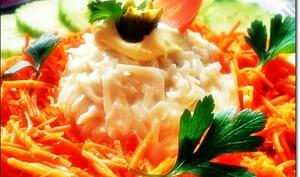 Céleri rémoulade carotte et concombre en salade