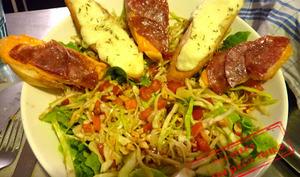Salade d'hiver mozza et coppa