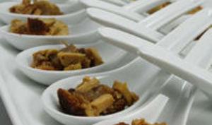 Mises en Bouche Foie Gras - Pain d'épices - Confit d'Oignons