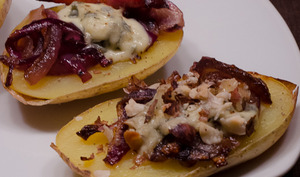 Pommes de terre farcies à la fourme d'ambert