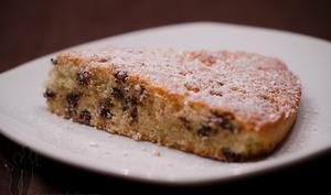 Gâteau aux amandes et aux pépites de chocolat