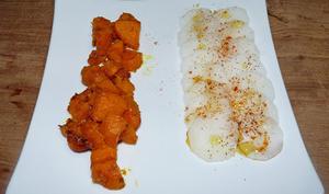 Chaud-froid patates douces et radis blancs