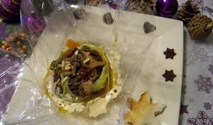 papillotes de foie gras aux épices et girolles