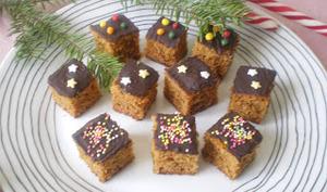Bouchées de pain d'épices au chocolat