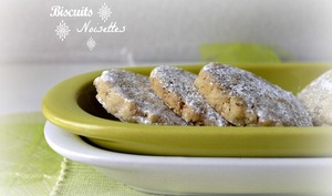 Biscuits aux noisettes de Noël