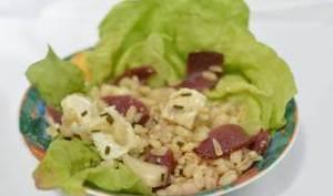 Salade d'Ebly au magret de canard et chèvre