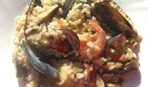 risotto aux fruits de mer et spumante
