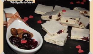 Nougats Tendres aux Amandes et Cranberries