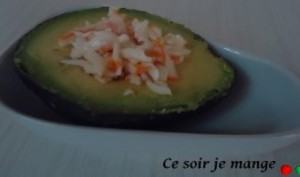 Avocat au surimi