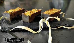Lingots de pudding au chocolat noir