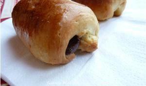 Petits pains briochés chocolatés du petit déjeuner
