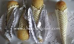 Cornets aux amandes et miel
