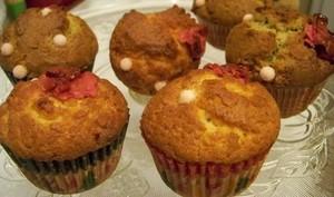 Muffins américain à la rose